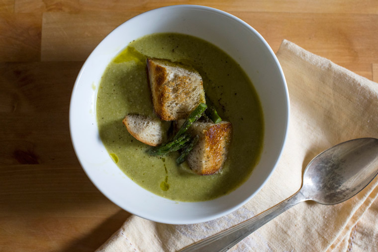 Roasted Asparagus Soup Recipe {Vegan}